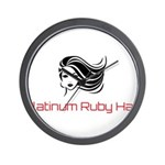 Platinum Ruby Hair Wall Clock