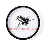Platinum Ruby Hair Wall Clock