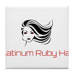 Platinum Ruby Hair Tile Coaster