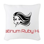Platinum Ruby Hair Woven Throw Pillow