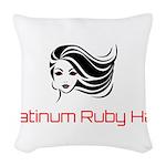 Platinum Ruby Hair Woven Throw Pillow