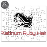 Platinum Ruby Hair Puzzle