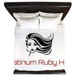 Platinum Ruby Hair King Duvet