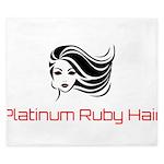 Platinum Ruby Hair King Duvet