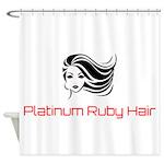Platinum Ruby Hair Shower Curtain