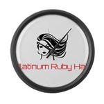 Platinum Ruby Hair Large Wall Clock