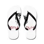 Platinum Ruby Hair Flip Flops