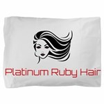 Platinum Ruby Hair Pillow Sham