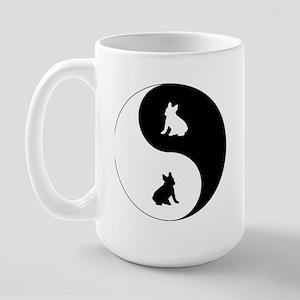 Yin Yang French Bulldog Large Mug
