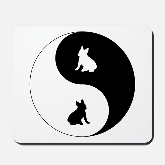 Yin Yang French Bulldog Mousepad