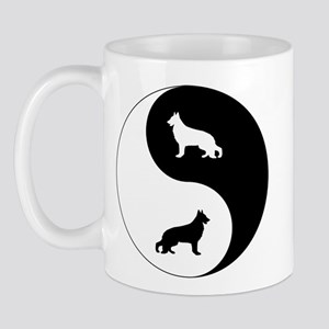 Yin Yang German Shepherd Mug