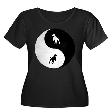 Yin Yang GSP Women's Plus Size Scoop Neck Dark T-S