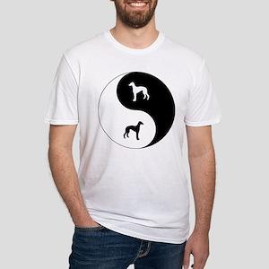 Yin Yang Greyhound Fitted T-Shirt