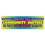 Community Matters Bumper Sticker