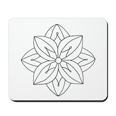 B/W Harvest Mousepad