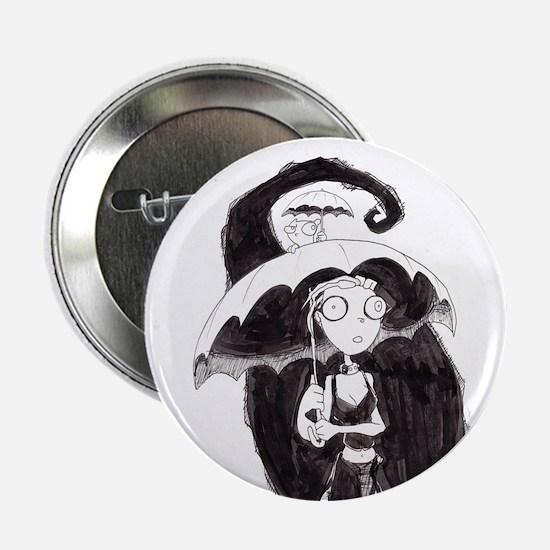 """Germaine & Foamy Umbrella 2.25"""" Button"""