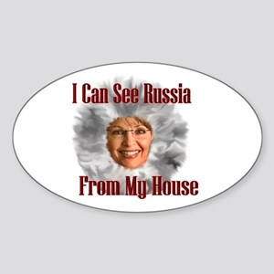 Russia I see you! Oval Sticker