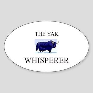 The Yak Whisperer Oval Sticker