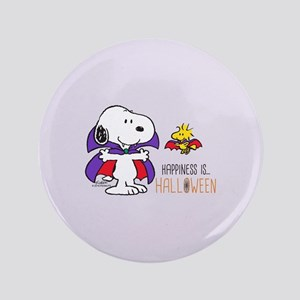 """Peanuts - Halloween Happiness 3.5"""" Button"""
