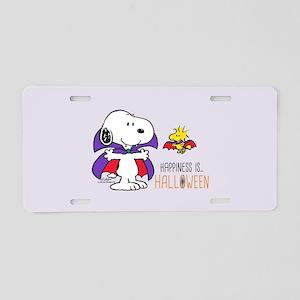 Peanuts - Halloween Happine Aluminum License Plate