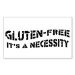GLUTEN-FREE IT'S A NECESSITY Rectangle Sticker 10