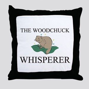 The Woodchuck Whisperer Throw Pillow