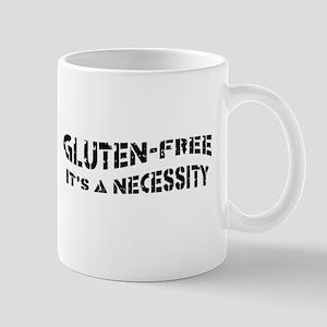 GLUTEN-FREE IT'S A NECESSITY Right Hand Mug