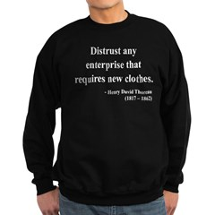 Henry David Thoreau 32 Sweatshirt (dark)