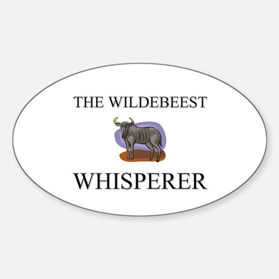 The Wildebeest Whisperer Oval Decal