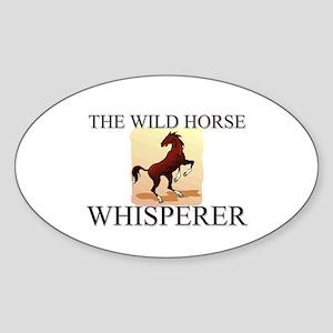 The Wild Horse Whisperer Oval Sticker