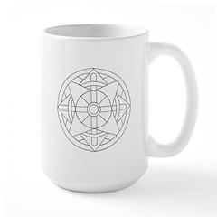 B/W Wisdom Large Mug