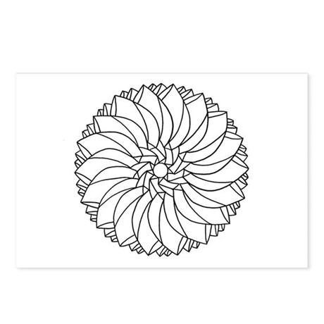 B/W Unfolding Postcards (Package of 8)