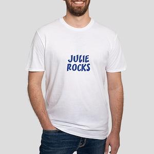 JULIE ROCKS Fitted T-Shirt