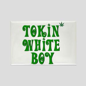TOKIN' WHITE BOY Rectangle Magnet