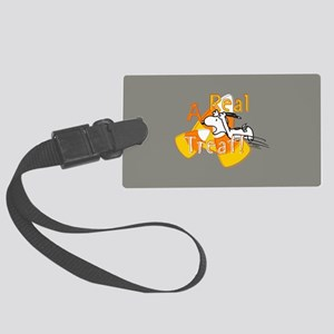 Snoopy - A Real Treat Large Luggage Tag