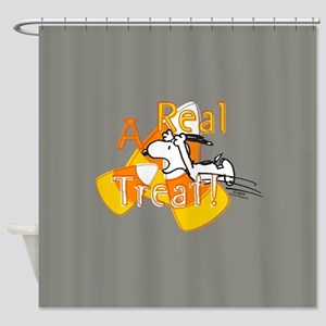 Snoopy - A Real Treat Shower Curtain