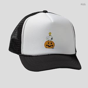 Snoopy and Woodstock Halloween Kids Trucker hat