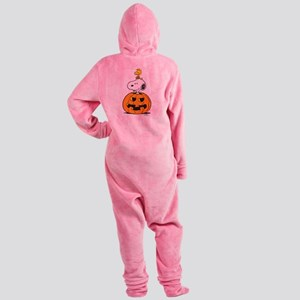 Snoopy and Woodstock Halloween Footed Pajamas