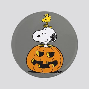"""Snoopy and Woodstock Halloween 3.5"""" Button"""