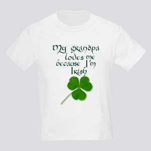My Grandpa Loves Me Kids Light T-Shirt