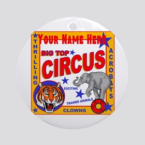 Retro Circus Round Ornament