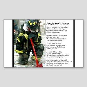 Old Version Firefighter Prayer Sticker (Rectangle)
