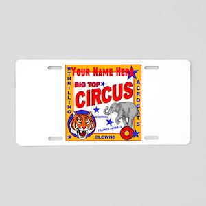 Retro Circus Aluminum License Plate