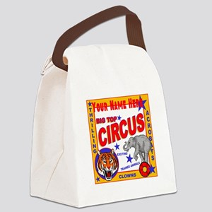 Retro Circus Canvas Lunch Bag