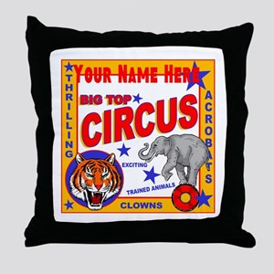Retro Circus Throw Pillow