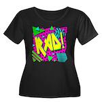 Rad! Women's Plus Size Scoop Neck Dark T-Shirt