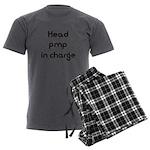 Pimp logo 29x19 Men's Charcoal Pajamas