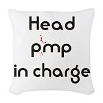 Pimp logo 29x19 Woven Throw Pillow
