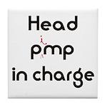 Pimp logo 29x19 Tile Coaster