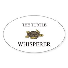 The Turtle Whisperer Oval Sticker